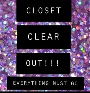 Closet close out everything must go wait until